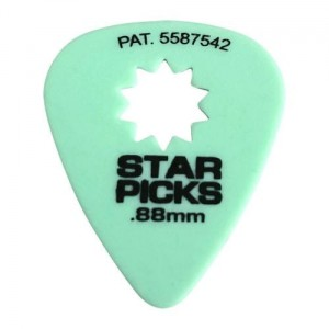 Cleartone kostka do gitary STAR PICKS 0.88 zielona