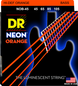 DR struny do gitary basowej NEON ORANGE 45-105