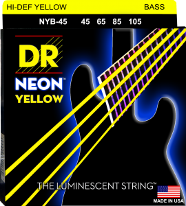 DR struny do gitary basowej NEON YELLOW 45-105