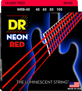 DR struny do gitary basowej NEON RED 45-105