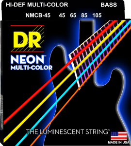 DR struny do gitary basowej NEON MULTI-COLOR 45-105