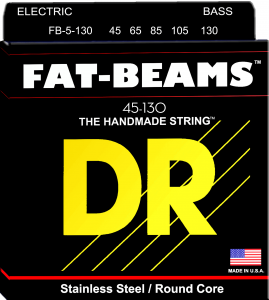 DR struny do gitary basowej FAT-BEAM stalowe 45-130 5-str