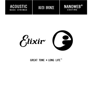 15780 Elixir Strings .080 Acoustic Bass Single String