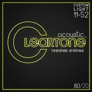 Struny Cleartone Acoustic 80/20 Bronze Custom Light 11-52