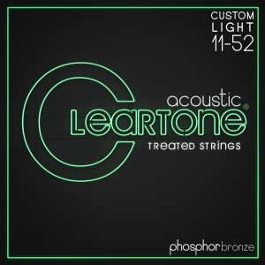 Struny Cleartone Acoustic Phosphor Bronze Custom Light 11-52