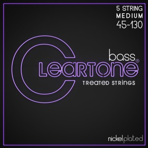 Struny Cleartone Bass Nickel Plated Medium  5-strings 45-130
