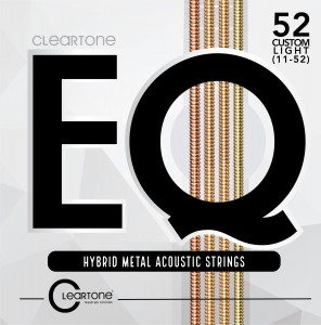 Struny Cleartone EQ Hybrid Metal Acoustic Custom Light 11-52